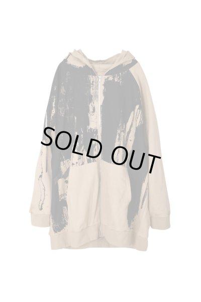 画像1: SUNDAYOFFCLUB / oversized full printed zip hoodie (1)