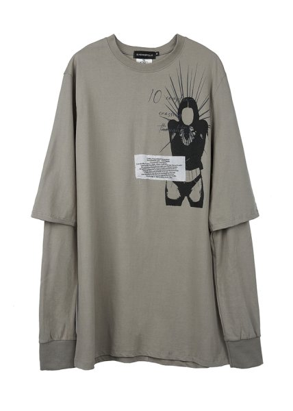画像1: SUNDAYOFFCLUB / 10 complex- crossing thoughts l/s tee (1)